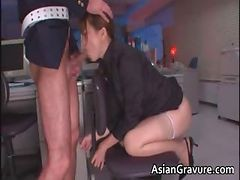 Asian, Blowjob, Secretary, Nice blowjob