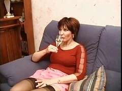 Stockings, Milf, Cheating milf creampie