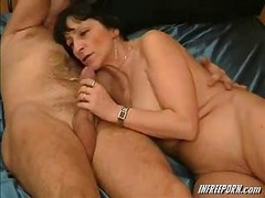 Amateur, Granny, Blowjob, Blowjob sleeping