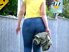 Jeans, Milf, Booty anal for juicy tube