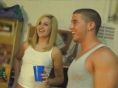College, Orgy, College girl caught