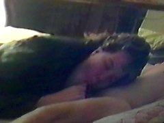 Leather, Wet, Dominatrix in leather gag a slave