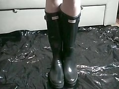 Boots, Black, Rubber, Rubber ass