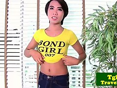 Ladyboy, Masturbation, Jerking, Only teen thai ladyboys solo cumming