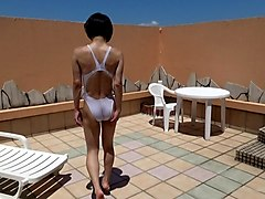 Crossdresser, Swimsuit, Dress, Teen swimsuit