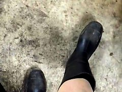Boots, Rubber, Socks, Caurtry rubber boot