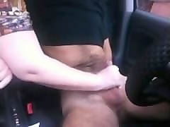 Wife, Hitchicker handjob in car