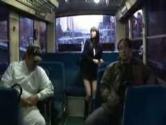Asian, Bus, Gangbang, Gropped on bus