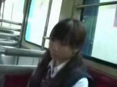Asian, Bus, Japanese, Gropped on bus