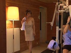 French, Sauna, Milf, Sauna