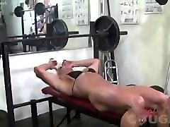 Clit, Gym, Big Clit, Black girl with big clit sucked by red head
