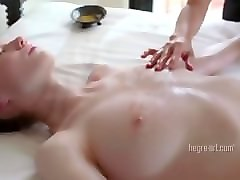 Massage, Orgasm, Ass, Young model reluctant massage orgasm part 2