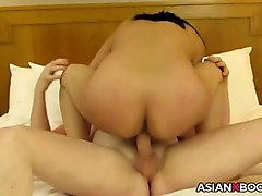 Asian, Creampie, Milf, Teen gets creampie by a old man