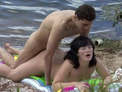 Couple, Beach, Orgasm beach
