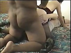 Cuckold, Creampie, Cuckold eat cum from pussy