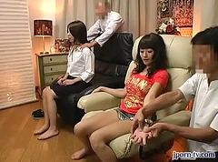 Massage, Ass, Japanes girl gives a massage and turns it into a