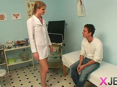 Blonde, Ass, Nurse, Ffm nurse