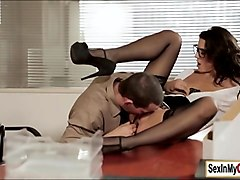 Latina, Office, Secretary, Masturbation glasses hd