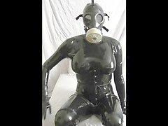 Rubber, Latex, Doll, Rubber doll titjob