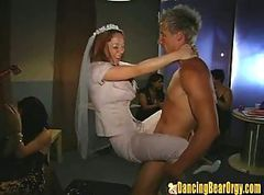 Strip, Wedding, Upskirt wedding