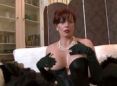 Stockings, Sexy short hair teacher in stockings sm65