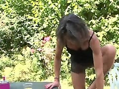 French, Lesbian, Mom humiliated outdoor