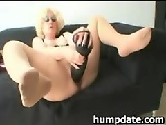 Babe, Fisting, Dildo, Long clit inserted in pussy