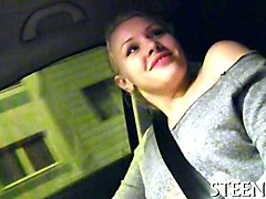 Blonde, Public, Car masturbation