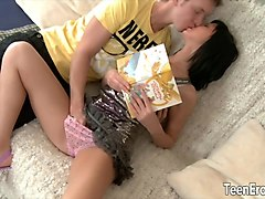 Teen, White tranny cream pied hd