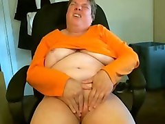Chubby, Short Hair, Crazy butty bitch spreads her leggs