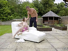 Anal, Babe, Ebony blowjob pool outdoor