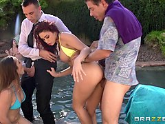 Bus, Group, Redhead, Clean toilet alura jenson and cuckold