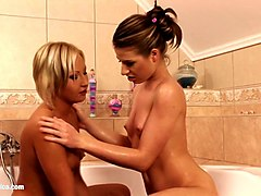 Anal, Erotic, Bath, Dady in the bath with daughter