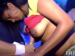 Bus, Club, Strip, Ebony club dancing