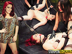 Lesbian, Slave, Strapon, Out door slave training