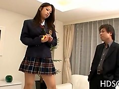 Asian, Nipple sucking school girl