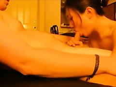 Asian, Real estate girl gives head