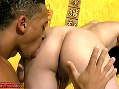 Anal, Asian, Latina, Amateur black tranny gets head