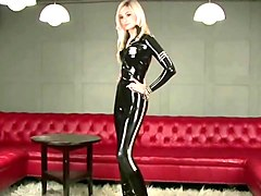 Blonde, British, Catsuit stockings