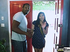 Asian, White wife fucked by teen black