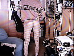Crossdresser, Nylon, Dress, Catsuits public