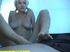 Wife, Footjob, Handjob outdoor more men