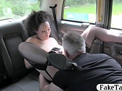 Bus, Babe, Stockings, Interracial anal in stockings