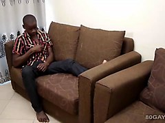 African, Black, Creampie hairy doggystyle