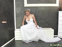Bukkake, Wedding, Ebony footjob