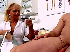 Blonde, Penis, Nurse, Soft and hard