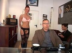 German, Secretary, Ass to mouth secretary