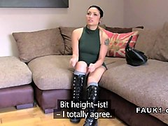 Boots, Casting, Cameraman with mature in boots at job interview