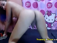 Asian, Shemale, Asian solo squirt webcam