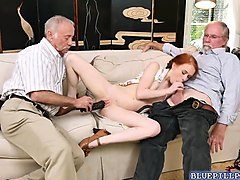 Gangbang, Doll, Old Man, Mans wife analized by black man